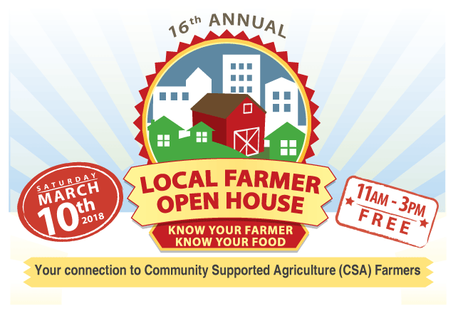 Local Farmer Open House March 10, 2018